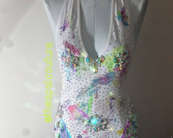 MAGICAL UNICORN bodysuit #ravewear #Edcoutfit #edm #Edcbra festival fashion