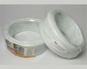 20pcs Plastic twist tie spool about 300FT each - white color