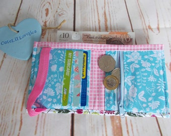 Bright Floral Bi Fold Wallet