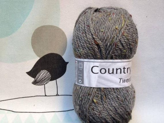 WOOL TWEED flannel - white horse COUNTRY