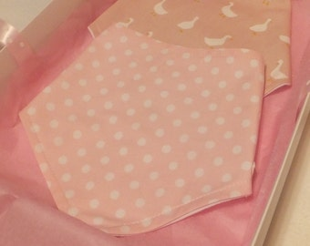 Bandana Baby Bibs - pack of two - Gift Boxed