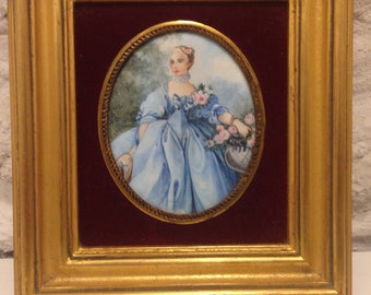 Miniature picture in the frame-portrait of the Mme Bergert