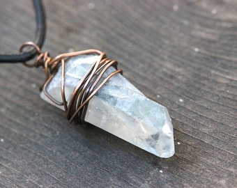 Raw Crystal Necklace Natural Crystal Necklace Raw Quartz Crystal Necklace Mineral Jewelry Raw Stone Jewelry Raw Crystals and Stones