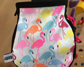 Flamingo Print Chalk Bag