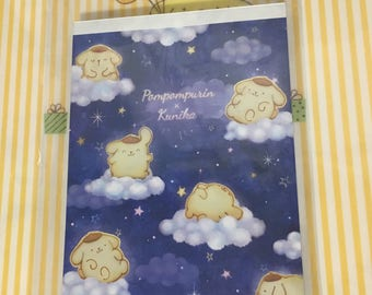 2016 NEW Sanrio POMPOMPURIN memo pad notepad night time clouds theme
