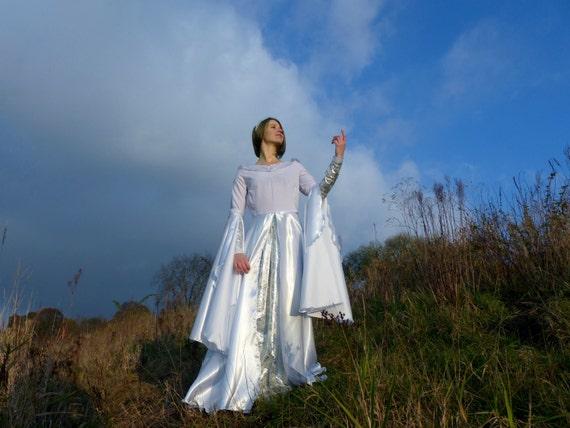 Galadriel Kleid Arwen Kleid weiß Elfen Hochzeitskleid