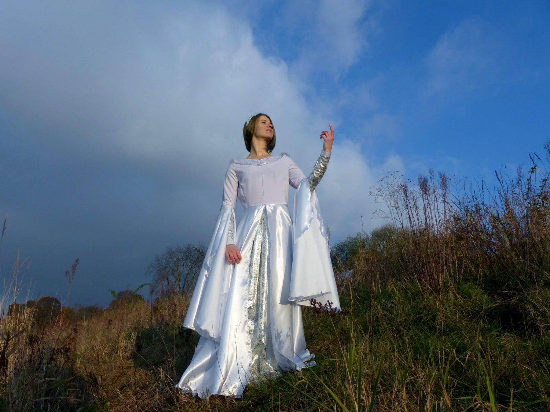 Galadriel Arwen prerrafaelita blanco élfico del vestido de