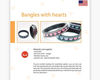 Bangles with hearts - Czextruder guide by Lucy [EN]