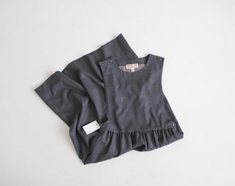gray wool jumper | jumper dress | charcoal grey dress