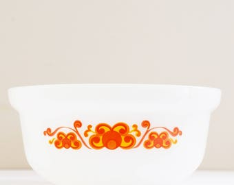 Vintage Agee Crown Pyrex 'Aurora' Banner -  Casserole Tub - Made In Australia - 70's Era