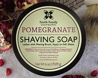 Handmade Shaving Soap, Pomegranate Shave Soap, Olive Oil Shave Soap, Shaving Soap in a Jar,