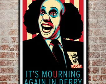Pennywise It's Mourning Again In Derry Propaganda Print