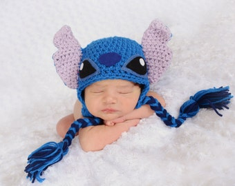 Crochet Stitch (Experiment 626) Beanie/Hat (Lilo And Stitch)