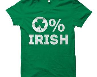 St Patricks Day Shirt, Irish Shirt, Shamrock Shirt, Shenanigan Shirt, St Pattys Day Shirt, St Paddys Day Shirt, Clover Shirt 0% Irish #OS744