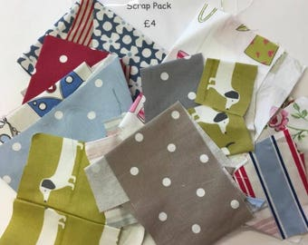 Fabric scrap packs sewing kit cotton remnants