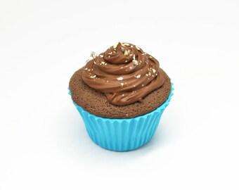 Cupcake pendant all chocolate! -Polymer clay