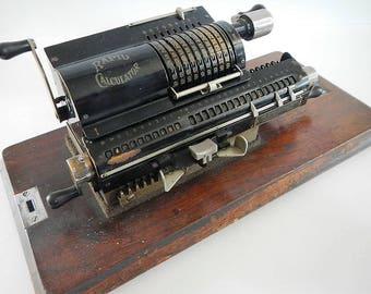 Antique Rapid Caculator, The Rapid Calculator Co, Philadelphia, Rapid Office Service-Chicago, 1920's, manual calculator, accounting, CPA