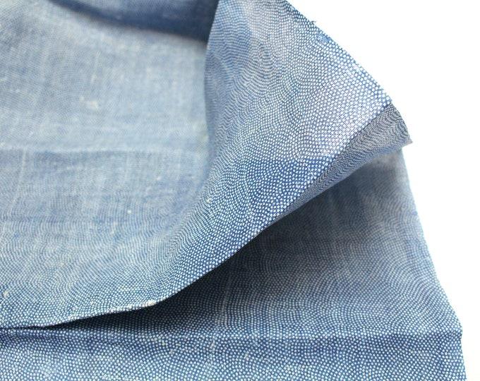Vintage Hemp Linen Katazome Fabric. Japanese Artisan Textile (Ref: 1886)