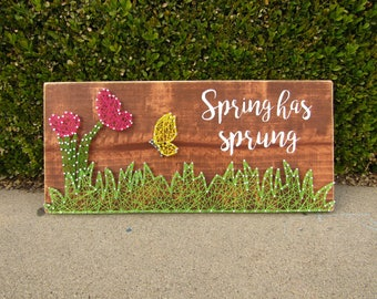 Spring has sprung String Art *Made-to-Order*