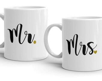 PICK YOUR SET! Mr & Mrs Mug Set