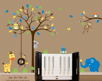 Wall decal tree baby wall decal tree branch wall decal sticker bright colors - 083