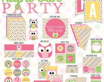 Night Owl Party PRINTABLE (INSTANT DOWNLOAD) from Love The Day