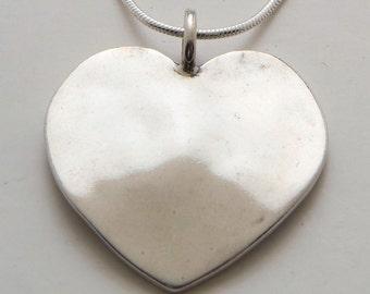 Recycled Coin Design Heart Pendant - Vintage US Silver Liberty Half Dollar Coin