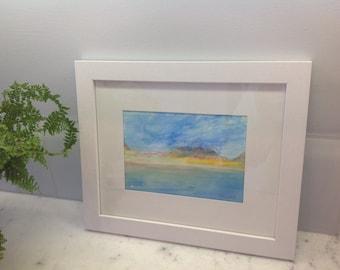 Original watercolor beachscape