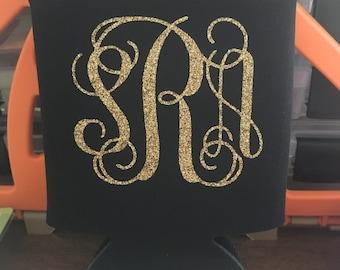 Can coolers - Wedding Favor - Monogram can cooler - Custom