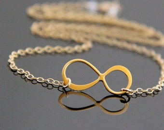 INFINITY Necklace, Gold Infinity Necklace, Love Necklace.