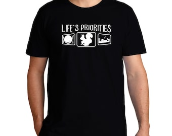 Life'S Priorities Squirrel T-Shirt