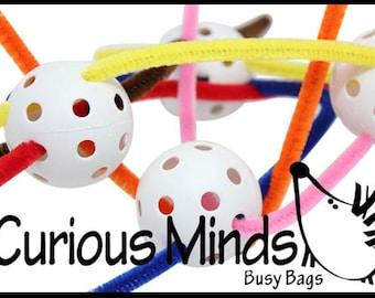 Toddler Busy Bag - Ball weaving  - Montessori