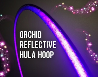 """Orchid Reflective HDPE or Polypro 5/8"""" 3/4"""" Dance & Exercise Hula Hoop - NOT an LED hoop purple"""