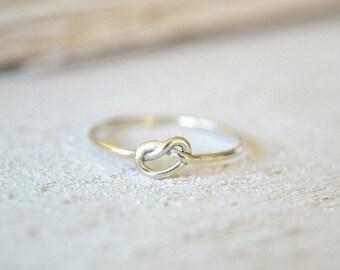 Silver Knot Ring, Knot Ring Silver, Knot Ring, Love Knot Ring, Infinity Knot Ring, Couples Ring, Bridemaids Ring