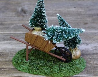 DEPT 56 Christmas in the City Accessory Cart Full of Christmas Trees