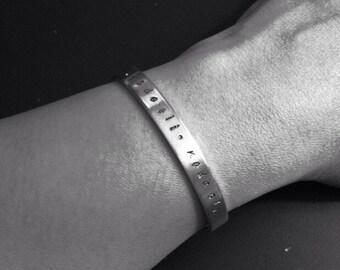 NADE ALI - Hand-stamped Bracelet