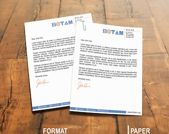 Simple and clean looking letterhead template, MS word(docx), psd, pdf compatible, Instant download