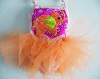 LUCKY ELEPHANT Leotard Tutu- Personalized Birthday Tutu -  Size 18/24  months, 2/4 years, 4/6 years or 6/8 years and up
