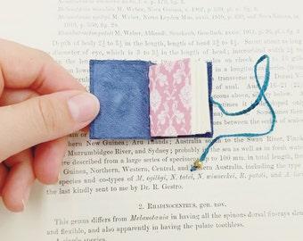 Tiny Steampunk Book- grimoire, spellbook, travel journal, mini notebook, handmade book