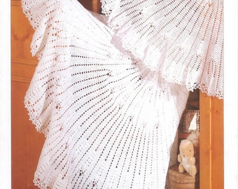 Vintage crochet pattern sirdar 3747 circular shawl