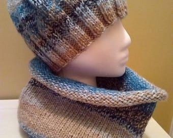 cowl/hat set for women