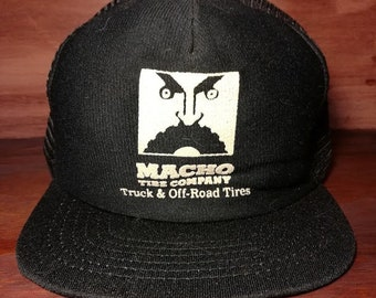 Vintage Macho Tire Company Truck and Offroad tires snapback trucker hat