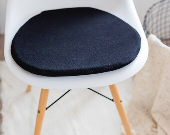 Chair cushion in black with cashmere, suitable for Eames chair, Limited