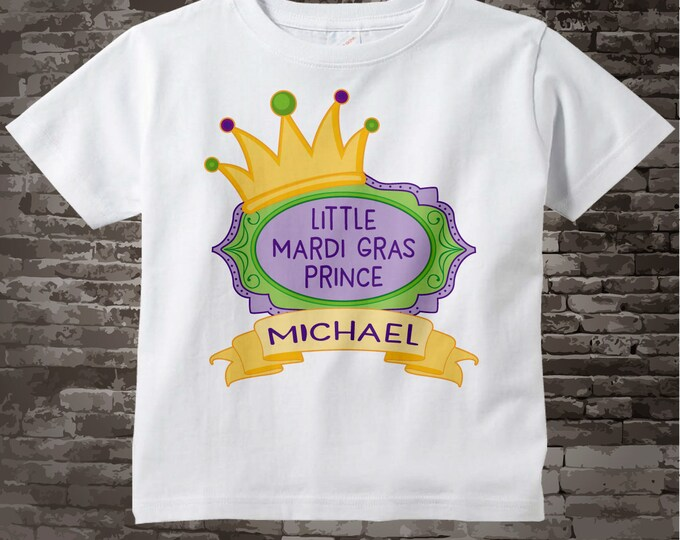 Mardi Gras Prince Shirt or Onesie Bodysuit, Personalized Prince Shirt or Onesie, Prince Shirt for Toddlers and Kids 02202017e