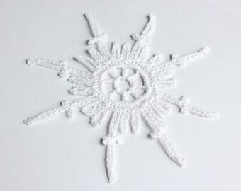 Flat angel white crochet angel angel decoration christmas 6 white crochet snowflake ornaments crochet christmas decoration baptism decoration christening decoration solutioingenieria Images