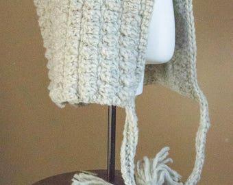ladies crochet wool hood