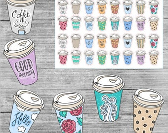 Cute Coffee To Go Stickers