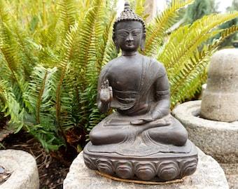 Buddha Statue Solid Brass Sitting Meditation