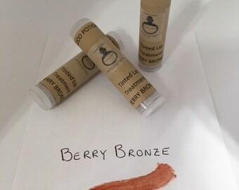 Tinted Lip Treatment Stick-Organic Ingredients- Berry Bronze