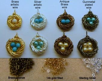 Bird Nest Necklace, Nest Necklace, Mothers Day Necklace, Bird Nest, Mommy Necklace, Mother of the Bride, femmart